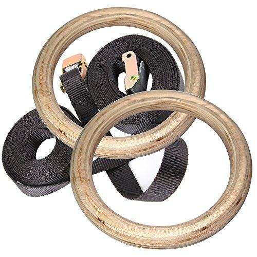 [Golden Tulip®]Gymnastikringe Turnringe Gymnastik Ring Gym Olympic Ringe Fitness m. Nylonbänder