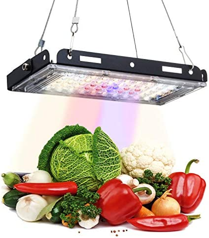 A Plus LED Grow Lights for Indoor Plants, 16000Lux Full Spectrum Sunlights, with Replaceable E27 Bulbs, Dual Head and Double Switches, Professional for Seedling