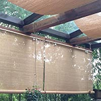 Persiana de bambú Exterior Persianas Enrollables De Sombra, Al Aire Libre Rueda para Arriba La Sombra para Patio Porche Pergola Balcón Gazebo Muelle, 60cm / 80cm / 100cm / 120cm / 140cm