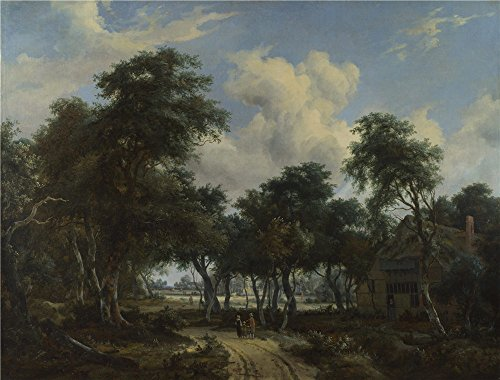 [Oil Painting 'Meindert Hobbema A Woody Landscape With A Cottage ' Printing On Polyster Canvas , 24 X 32 Inch / 61 X 80 Cm ,the Best Game Room Gallery Art And Home Decoration And Gifts Is This Amazing Art Decorative Prints On Canvas] (Amber Sweet Cosplay Costume)
