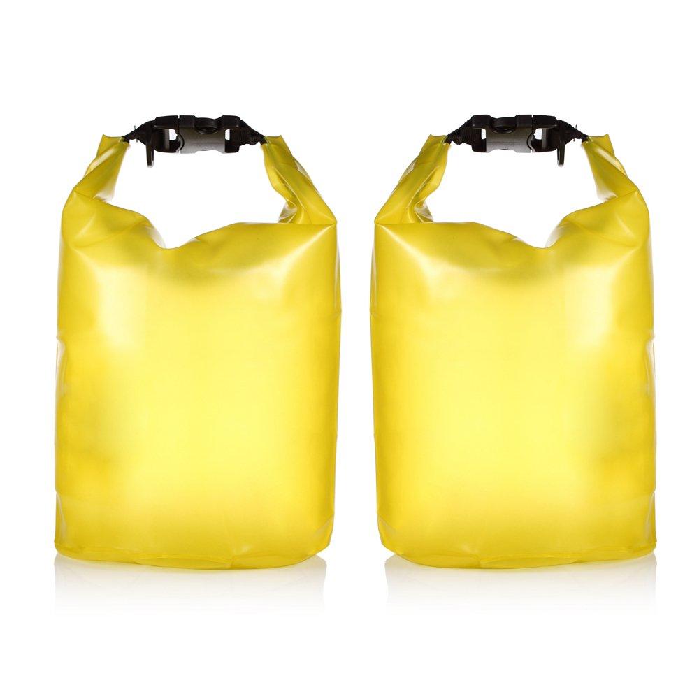 最新人気 HZZ ® - 2 - HZZ Pack半透明防水ドライ袋バッグforボートカヤック釣りラフティング水泳フローティング 5L B00LTKV70W 2 イエロー 5L, バラエティーストアおきなわ一番:749d3711 --- mcrisartesanato.com.br