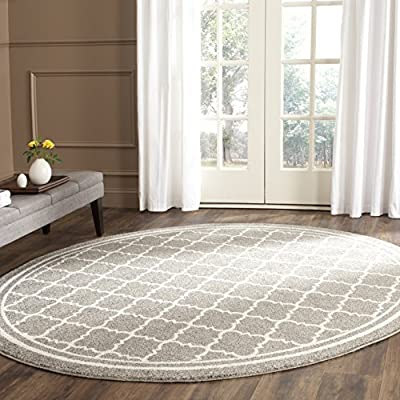 Safavieh Amherst Collection AMT422B Light Grey and Beige Indoor/ Outdoor Area Rug