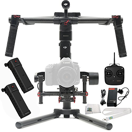DJI Ronin-M 3-Axis Brushless Gimbal Stabilizer Basic Kit Includes Manufacturer Accessories + DJI Intelligent Battery for Ronin-M + SSE Transmitter Lanyard + Microfiber Cleaning Cloth by SSE