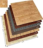 best flooring for a kitchen Sorbus Wood Grain Floor Mats Foam Interlocking Mats Tile 3/8-Inch Thick Flooring Wood Mat Tiles Borders - Home Office Playroom Basement Trade Show (12 Tiles, 48 Sq ft, Pine)