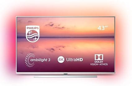 Televisión Philips Ultra HD 43PUS6814/12 con Alexa integrada, 43 ...