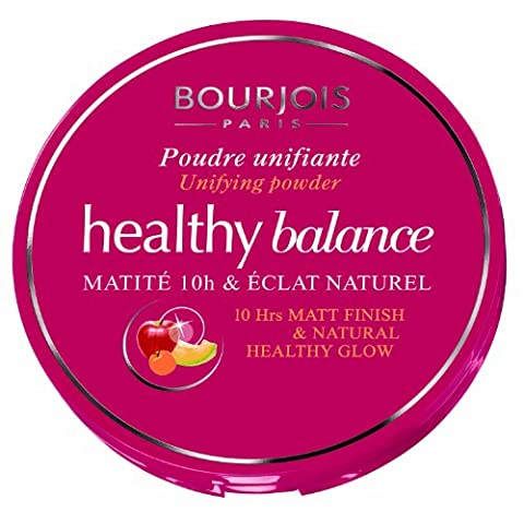 Bourjois Healthy Balance Unifying Compact Powder for Women, # 55 Beige Fonce, 0.32 Ounce