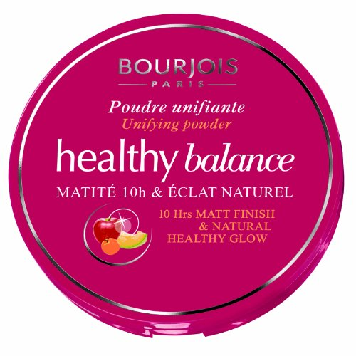 Bourjois Healthy Balance Unifying Compact Powder for Women, # 55 Beige Fonce, (Bourjois Beige Foundation)