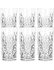 Libbey - Hobstar - Långt dricksglas, cocktailglas, vattenglas, juiceglas - 470 ml - glas - uppsättning av 6 - känd från de coolaste hotellen och barerna