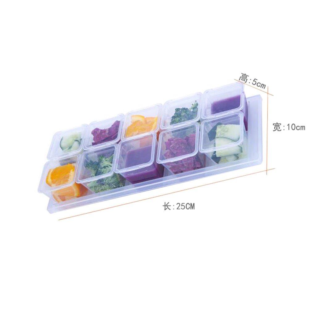 Meijunter Bo/îtes de r/écipient de nourriture de b/éb/é avec le stockage de cong/élateur de coffre-fort