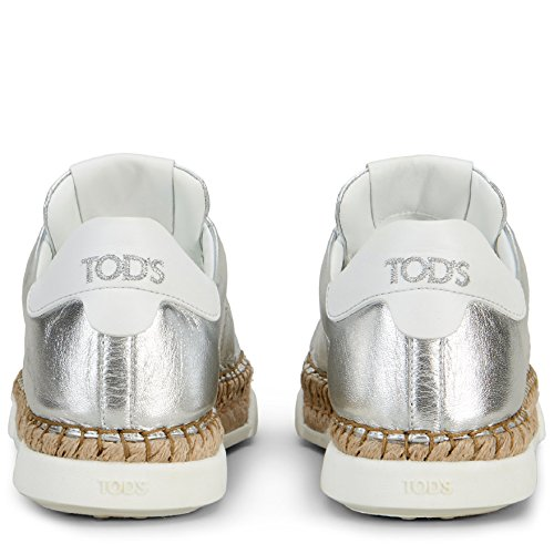 Leather Women's Tod's Sneakers Silver Xxw96a0y550j150906 WAtZZnU1