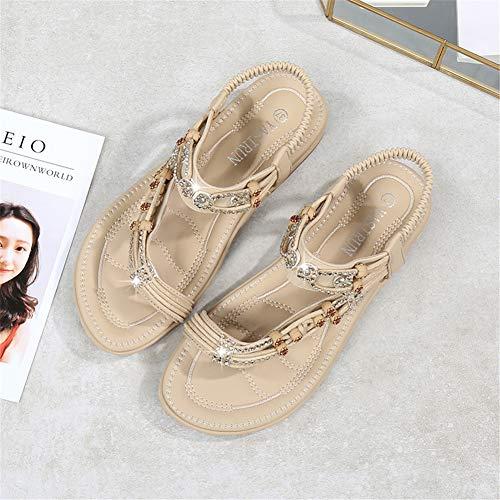 Sandalias Mujer Verano Plano Zapatillas de Vestir Punta ...
