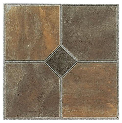 Price comparison product image NEXUS Rustic Slate 12 Inch x 12 Inch Self Adhesive Vinyl Floor Tile #326 20 PACK