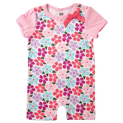 Hudson Baby Baby Shorts Romper, Flower, 0-3 Months (3M)