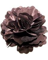 A Girl Company Brown Satin Flower Hair Clip/Brooch