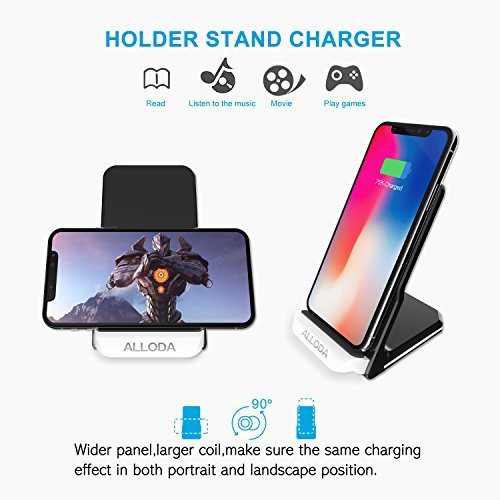 on sale iPhone X Wireless Charger, Alloda Breathing Light QI