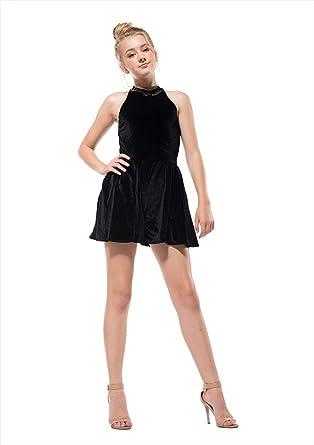 67b3892e9ac1 Amazon.com  Miss Behave Safira Black Romper (8)  Clothing