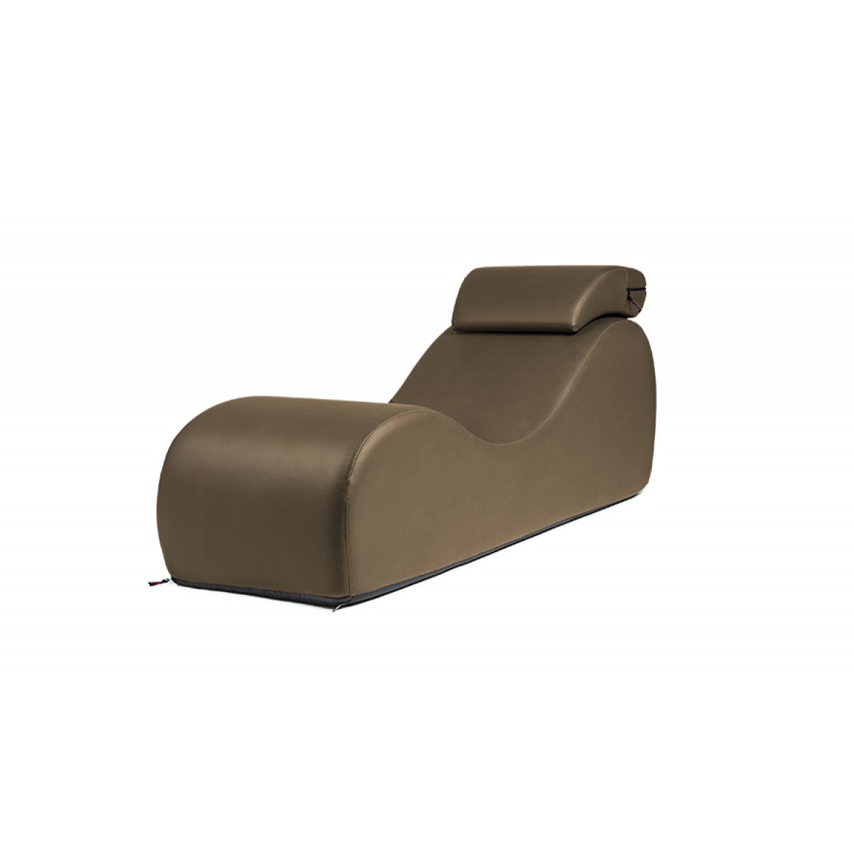 Liberator Esse Chaise, Taupe Faux Leather by Liberator