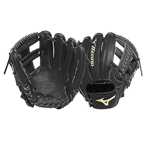 Mizuno GGE61VBK Global Elite VOP Right Handed Throw Baseball Fielders Mitt, Black, 11.50-Inch Custom Pro Fielders Glove