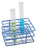 Blue Epoxy Coated Steel Wire Test Tube Rack, 20 Holes, Outer Diameter permitted of tubes 18-20mm or less, 4 X 5 Format