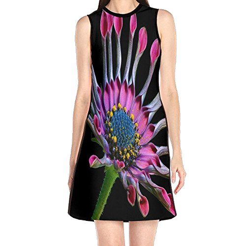 Abstract Women's Fashion Sleeveless Mini Dress Print Party Dress Tank (Abstract Print Mini Dress)