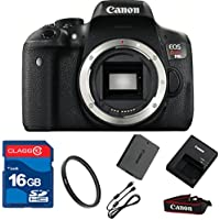 Canon T6I DSLR Camera Body Only (NO LENS)+ 16GB Memory + UV Filter + Deluxe Value - International Version