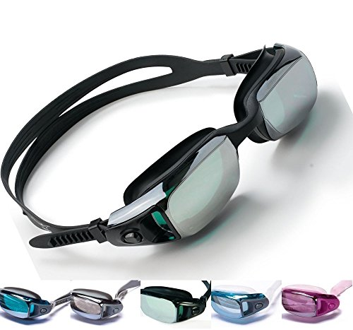 Aguaphile Mirrored Swim Goggles Soft and Comfortable - Anti-Fog UV Protection, Best Tinted Swimming Goggles with Case - Compare to Speedo, Aqua Sphere, or Ispeed - Adult Men or Women, - Goggles What Swimming The Best Are