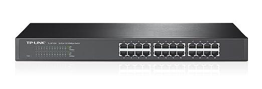 4 opinioni per TP-Link TL-SF1024 Switch Desktop, 24 Porte, RJ45 10/100 Mbps, Plug & Play