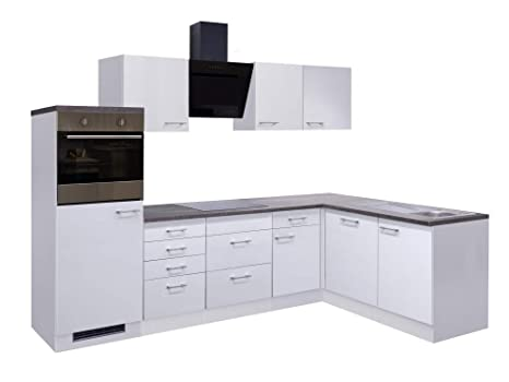 Smart Möbel - Bloque de Cocina en ángulo (280 x 170 cm, con lavavajillas
