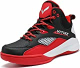 Littleplum Kids Basketball Shoes Athletic Running Outdoor Casual Shoes Fashion Sneakers (1 M US Lillte Kid (Inner Length = 20.7cm), Red)