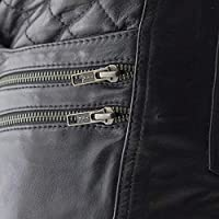 First Mfg Co Vixen Women/'s Leather Motorcycle Pants Black Size 8
