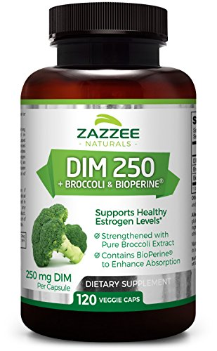 100 Caps Mg Vegetarian (DIM 250 mg | 120 Veggie Caps | 10 mg BioPerine | 4 Month Supply | Plus Pure Broccoli Extract | Vegan/Vegetarian | 250mg per Capsule | Extra Strength | Supports Healthy Estrogen Levels and Metabolism)