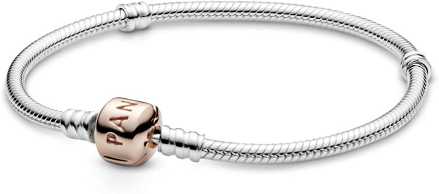 pandora moments bracelet with rose gold clasp