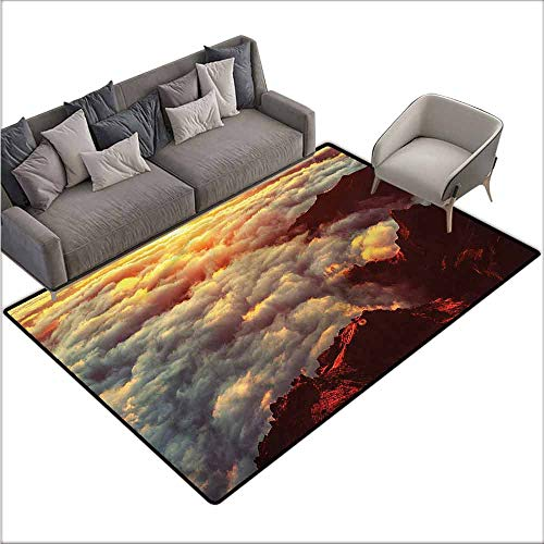 Carpet for Living Room Clouds,Natural Beauty Sunset 64