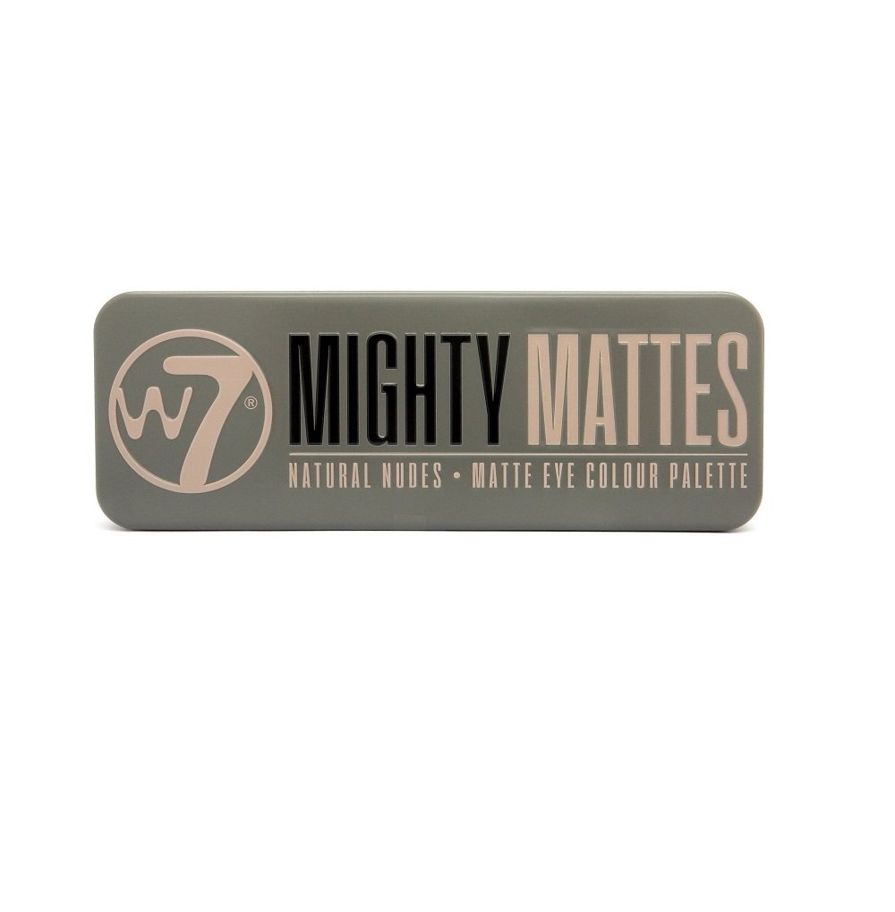 W7 Mighty Mattes Natural Nudes Eye Colour Palette, 15.6 g, 12 Piece 5060406149371