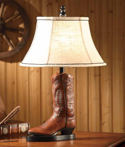 Black Forest Decor Stetson Boot Western Table Lamp - Southwestern Lighting Fixtures