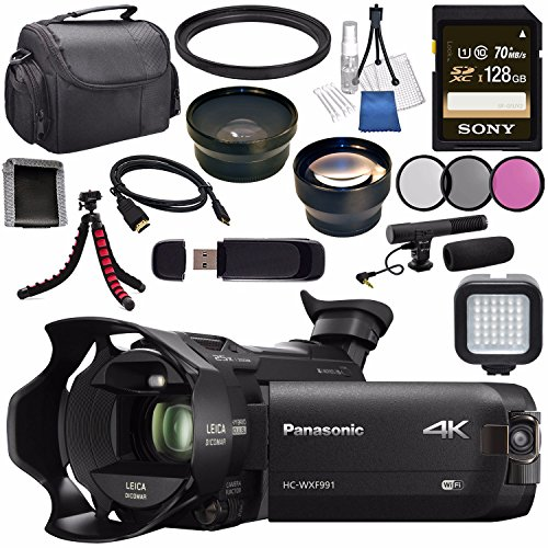 Panasonic HC-WXF991 HC-WXF991K 4K Ultra HD Camcorder with Tw