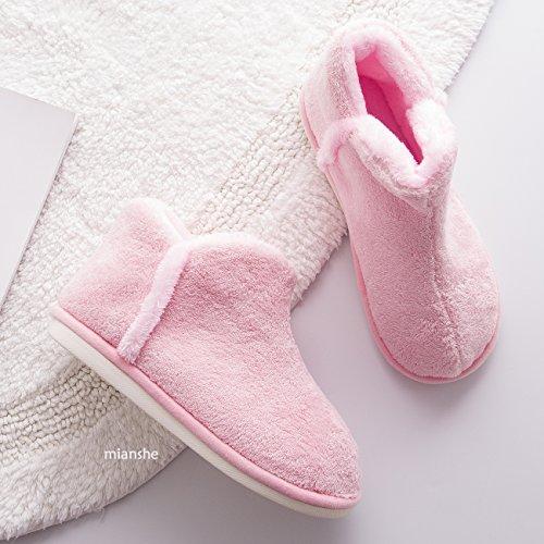 Men's Lined Cozy Slip Short Slippers Plush Bootie House Anti mianshe Shoes Womens Menory Foam Kahki Indoor fzxqHp7
