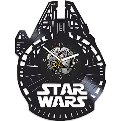 Amazon.com: Star Wars Gift, Star Wars Vinyl Wall Clock, Star ...
