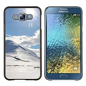 EJOOY---Cubierta de la caja de protección para la piel dura ** Samsung Galaxy E7 E700 ** --Holmy sneg doroga Solnce