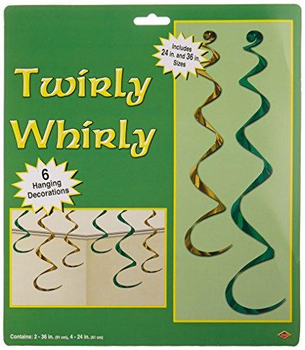 Twirly Whirlys asstd green gold