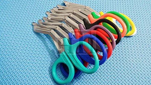 3 PCS ( NEON PINK & NEON GREEN & BLUE) PARAMEDIC UTILITY BANDAGE TRAUMA EMT EMS SHEARS SCISSORS 7.25 INCH STAINLESS STEEL ( HTI BRAND)
