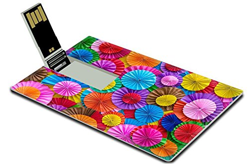 Green Background Images (Luxlady 32GB USB Flash Drive 2.0 Memory Stick Credit Card Size IMAGE ID: 34130185 Paper folding multicolored abstract for)