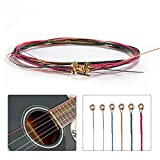 SBE 1 set Colorful Acoustic Guitar Steel Strings, E-A Guitar Strings For Electric Guitar,Folk Acoustic Guitars and Classic Guitars Part Accessories.
