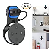 Echo Dot Wall Mount Holder for Echo Dot 2nd Generation, Space-Saving for Your Smart Home Speakers without Messy Wires or Screws - Black(pack of 2)