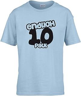G-graphics Kinder T-Shirt Endlich 10 mit Wunschname 265.0008 64000B