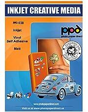 "PPD Inkjet Matt Creative Vinyl Stickers LTR 8.5x11"" 4.7mil x 20 Sheets (PPD038-20)"