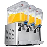 Ceny Cold Juice Beverage Dispenser 4.75 Gallon x 3 Tanks Juice Dispenser Commercial Stainless Steel Restaurant Buffet Food Service Catering