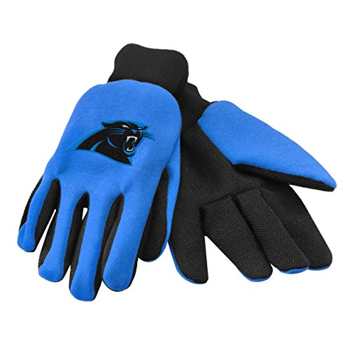 Forever Collectibles 74228 NFL Carolina Panthers Colored Palm Glove (Collectibles Carolina Panthers)