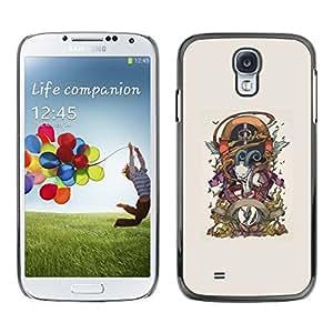 // PHONE CASE GIFT // Duro Estuche protector PC Cáscara Plástico Carcasa Funda Hard Protective Case for Samsung Galaxy S4 / Cabra Goth /