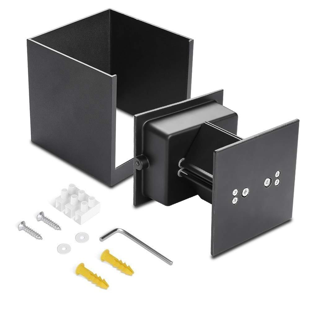 12W Aplique Pared Led 3000K Blanco C/álido IP65 Impermeable Lamparas de Pared Exterior de Angulo de Haz Ajustable Led Apliques Pared Exterior 2 Pack